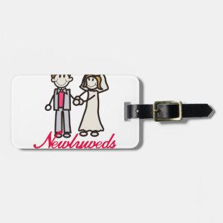 Newlyweds Luggage Tag