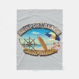 Newport Beach, California Fleece Blanket