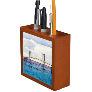 Newport bridge desk organizer