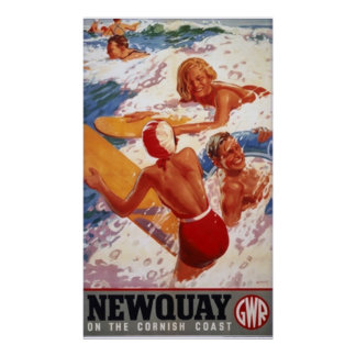 newquay travel poster FROM 8 99