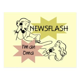 Newsflash I'm an Oma T-shirts and Gifts Postcard