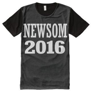 Newsom - Gavin Newsom 2016 All-Over Print T-Shirt
