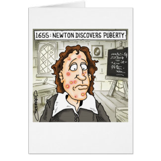 Newton Discovers Puberty Card