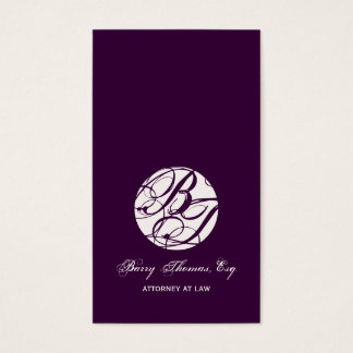Next Appointment Cards, monogram business cards
