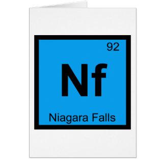 Nf - Niagara Falls New York Chemistry Symbol Card