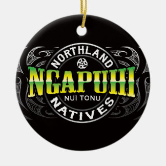 Ngapuhi Lifer Chrome Christmas Ornament