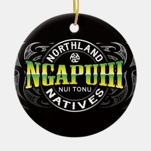 Ngapuhi Lifer Chrome Christmas Ornaments