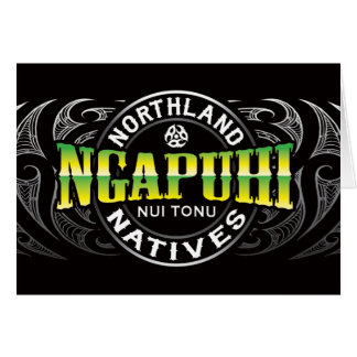 Ngapuhi Lifer Chrome Greeting Card