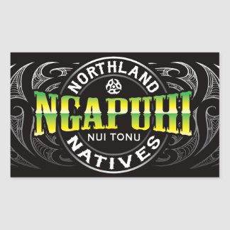 Ngapuhi Lifer Chrome Rectangular Sticker