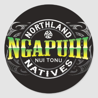 Ngapuhi Lifer Chrome Round Sticker