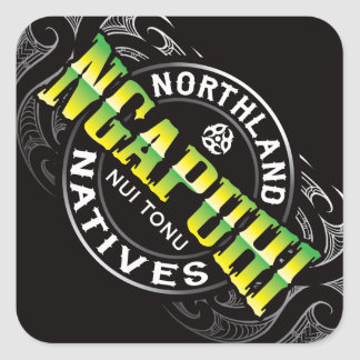 Ngapuhi Lifer Chrome Square Sticker