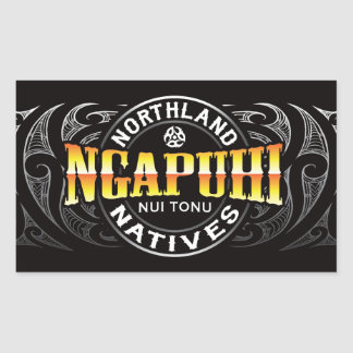 Ngapuhi Lifer Moko Rectangular Sticker