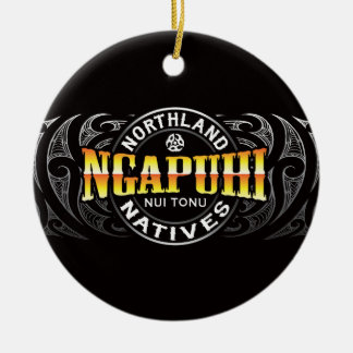 Ngapuhi Lifer Moko Round Ceramic Decoration