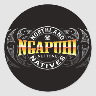 Ngapuhi Lifer Moko Round Sticker