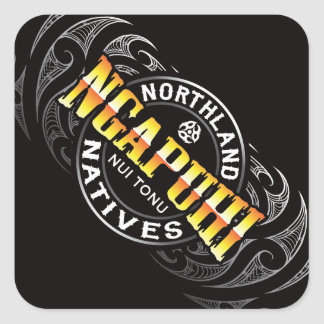 Ngapuhi Lifer Moko Square Sticker