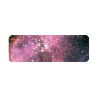 NGC 346 in Pink Return Address Label