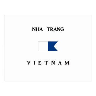 Nha Trang Vietnam Alpha Dive Flag Postcard