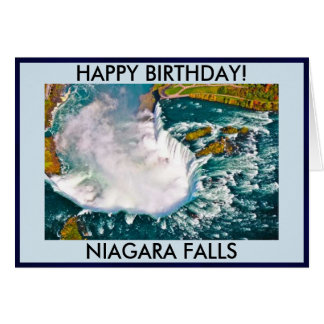 Niagara Falls Birthday Card