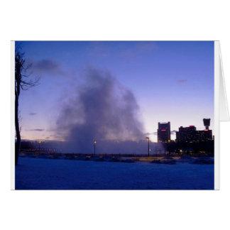 Niagara Falls evening mist Card