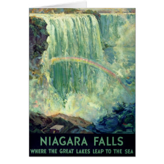 Niagara Falls Vintage Travel Poster Restored Card