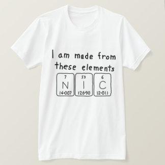 Nic periodic table name shirt