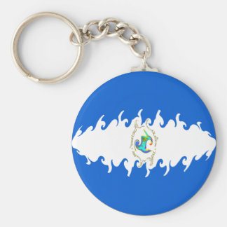 Nicaragua Gnarly Flag Keychains