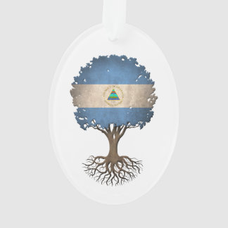 Nicaraguan Flag Tree of Life Customisable Ornament