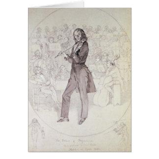Niccolo Paganini , violinist Card