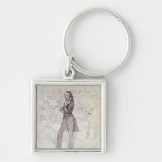 Niccolo Paganini , violinist Key Ring