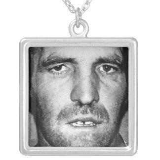 nice neckplate square pendant necklace