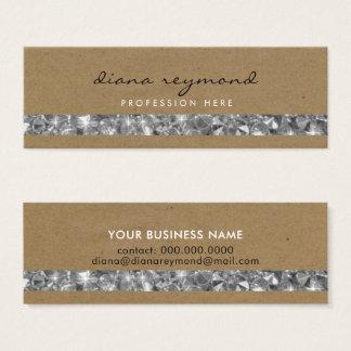 nice professional business card + gemstones stripe