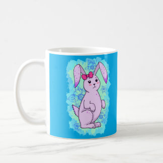 Nice purple rabbit with loop basic white mug