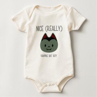 Nice (Really) - Vampire Bat Boy Baby Bodysuit