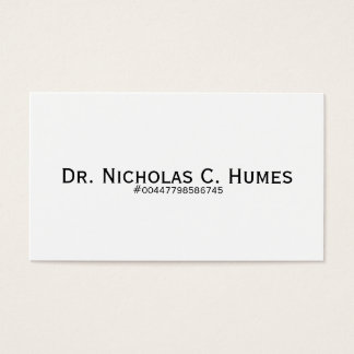nick humes business card