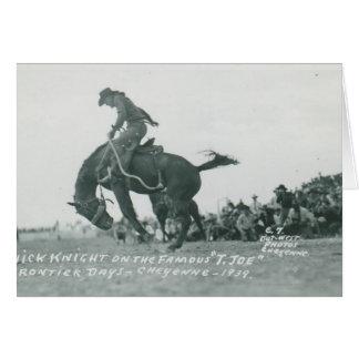 Nick Knight riding T. Joe at Cheyenne Frotier Days Card