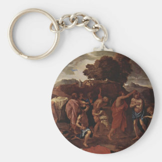 Nicolas Poussin- Baptism Keychains