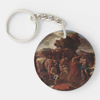 Nicolas Poussin- Baptism Key Chain