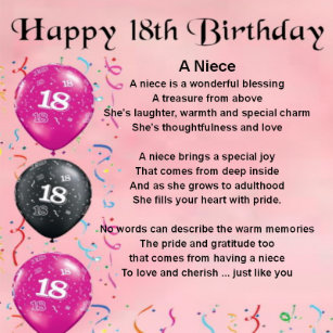 Nieces 18th Birthday Gifts On Zazzle NZ
