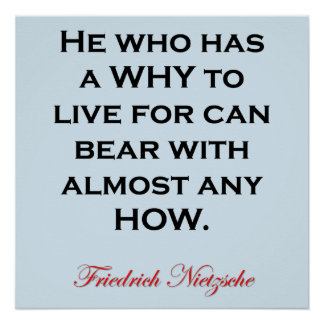 Nietzsche Quote - Bear Any How Poster