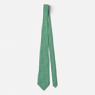 Nigeria Flag Honeycomb Tie