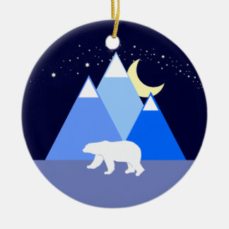 Night and Day Christmas Ornament