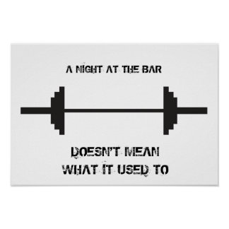 Night at the Bar Motivational Poster