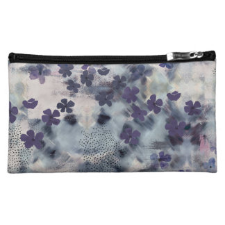 Night Blossom Floral Cosmetics Bag
