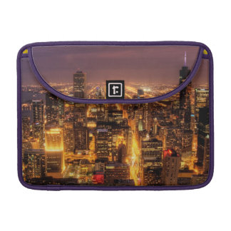 Night cityscape of Chicago Sleeve For MacBooks