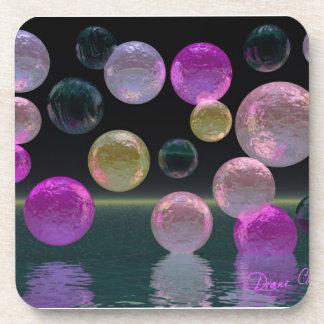 Night Jewels – Magenta and Black Brilliance Coaster
