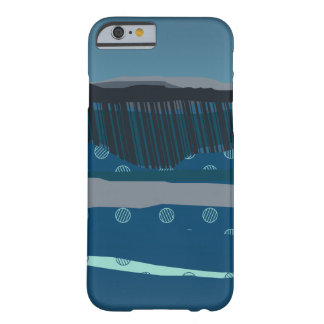 night landscape dark blue rolling hills night land barely there iPhone 6 case