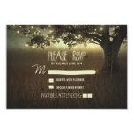 night lanterns romantic wedding RSVP card Custom Announcement