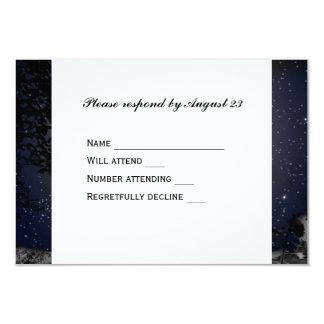 Night Moon Country Church RSVP 9 Cm X 13 Cm Invitation Card
