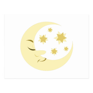Night Moon Postcard