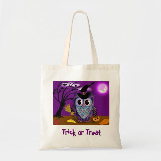 Night Owl Trick or Treat Tote Bags